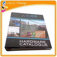 Commercial printing company glossy laminated magazine with ring binder