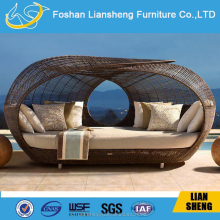 Hot sale rattan daybed balcony outdoor furniture