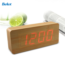 Stock On Sale Digital LED Wooden Alarm Clocks Popular LED Desk Clocks