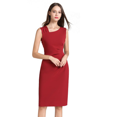 Alibaba.com / Hot Sale Women's Elegant Office Ladies Formal Business Bodycon Pencil Dress