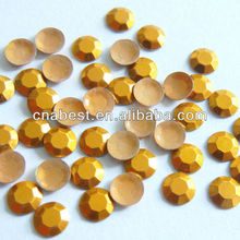 Hotfix octagon,metal rhinestone,heat transfer octagon-5mm GOLD