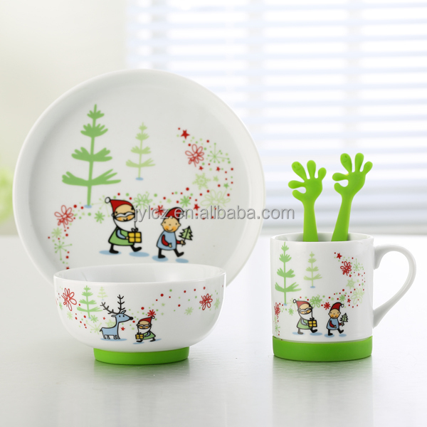 Chaozhou factory children new design dinner set for sale