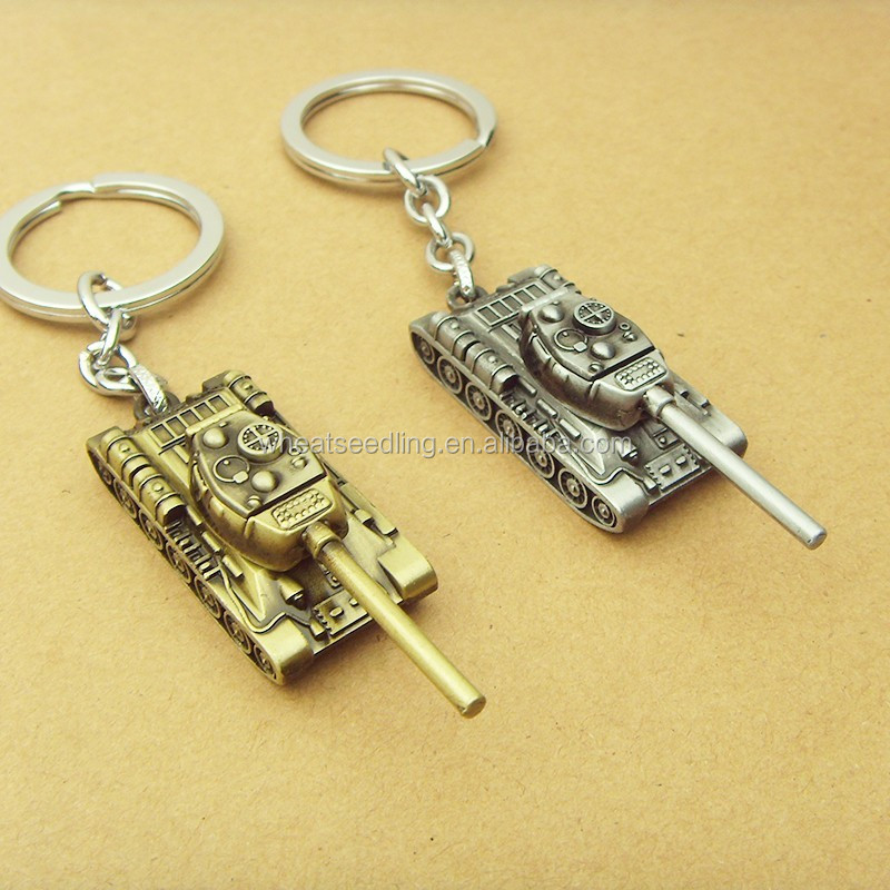 Fashion World of Tanks KeyChain 5 cm Alloy Metal Tank Model Pendent Keyring gift for car Fans souvenirs