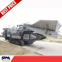 Used machines mobile stone crushing plant with replacement parts