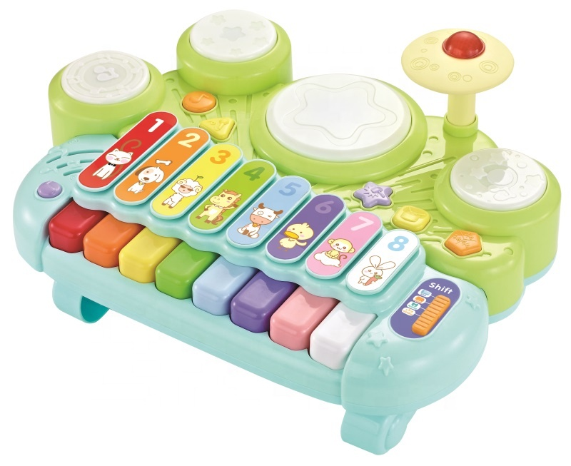 5-in-1 Electronic Xylophone & Glockenspiel & Piano & Jazz Drum Kit Set & Hamster Musical Instrument Toy for kids