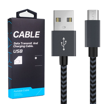 3FT 2 PACK Micro USB 2.0 Cable, Fast and Durable Nylon Braided Tangle-Free Charging Cable For Samsung/HTC/ Sony/LG/OPPO