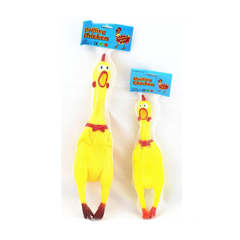 Funny Squeaky Dog Toy Screaming Chicken Pet Chew Toy Shrilling Latex Rubber Chicken