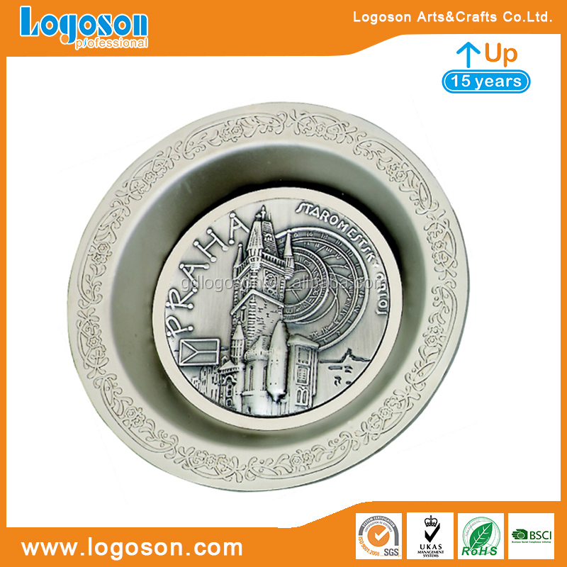 Antalya Souvenir Hollow Carving Ashtray Custom Logo Zinc Alloy Ashtrays Cigarette Ashtray
