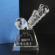 Hot Selling Football Soccer Trophy Awards Crystal Wholesale