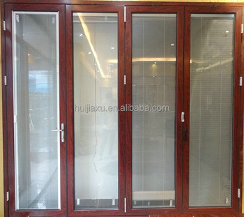 Aluminum Bifold Door With Internal Blinds