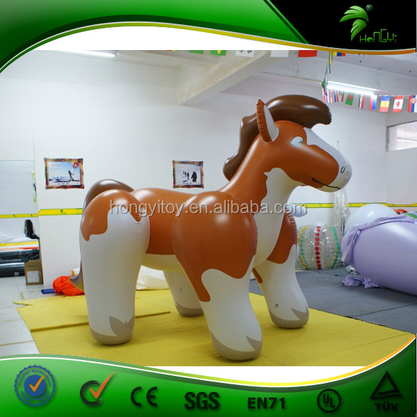 High Quality Hot Sale Inflatable Funny Fat Horse , Hongyi Toys Brown  Inflatable Animals Sex Horse
