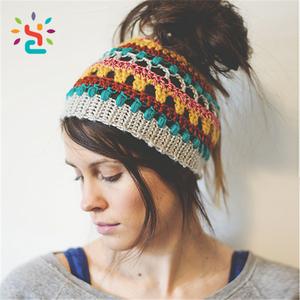 b56a95536af Crochet Ponytail Hat