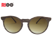 Hot sell custom made plastic round sunglasses with wooden grain