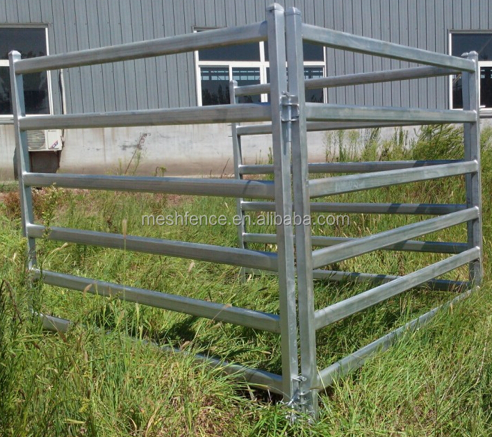 Galvanized Pipe Livestock Metal Corral Fence Panels For