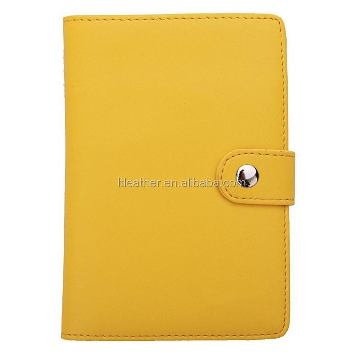 OEM ODM handmade unique custom size logo color cheap luxury travel wallet card holders genuine leather passport holder