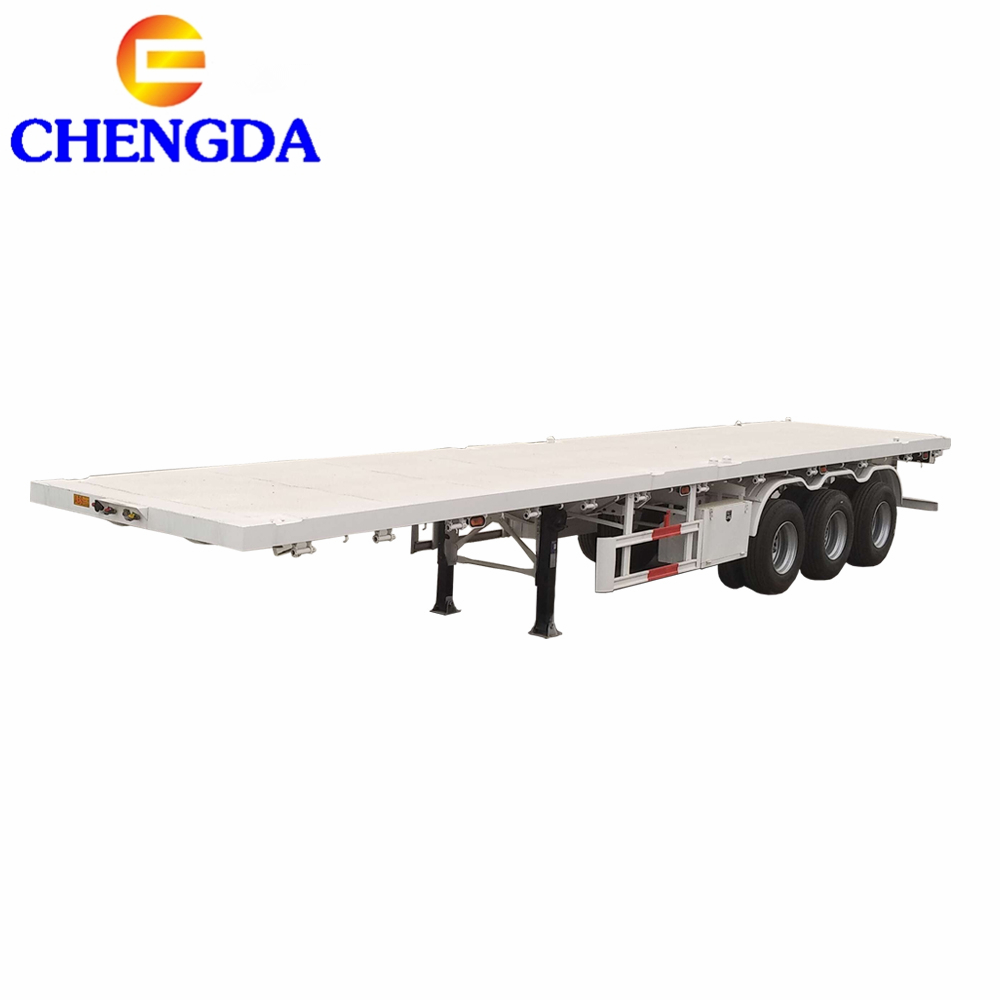 Flatbed For Sale >> 2 Axle 20ft New Flat Bed Truck Chassis 3 Axle 40 Feet 40ft Container Flatbed Semi Trailer For Sale Buy Flatbed Trailer Flatbed Semi Trailer 40ft