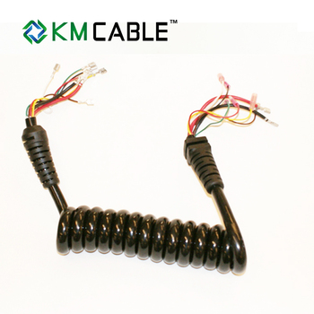 waterproof trailer 7 coil electric cable with plug