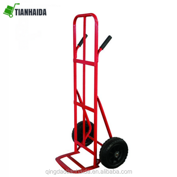 HT0130  Pb-free and UV resistance power coating  Double Grip Handle Hand Trolley  Truck