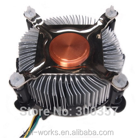 4 PinDesktop Computer PC Aluminum CPU Heatsink cheap Cooler Fan for LGA 775 or LGA1155/1156/1150 3type