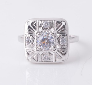 Women's Vintage Wedding Clear CZ Promise Ring New 925 Sterling Silver ring Sizes 5-10