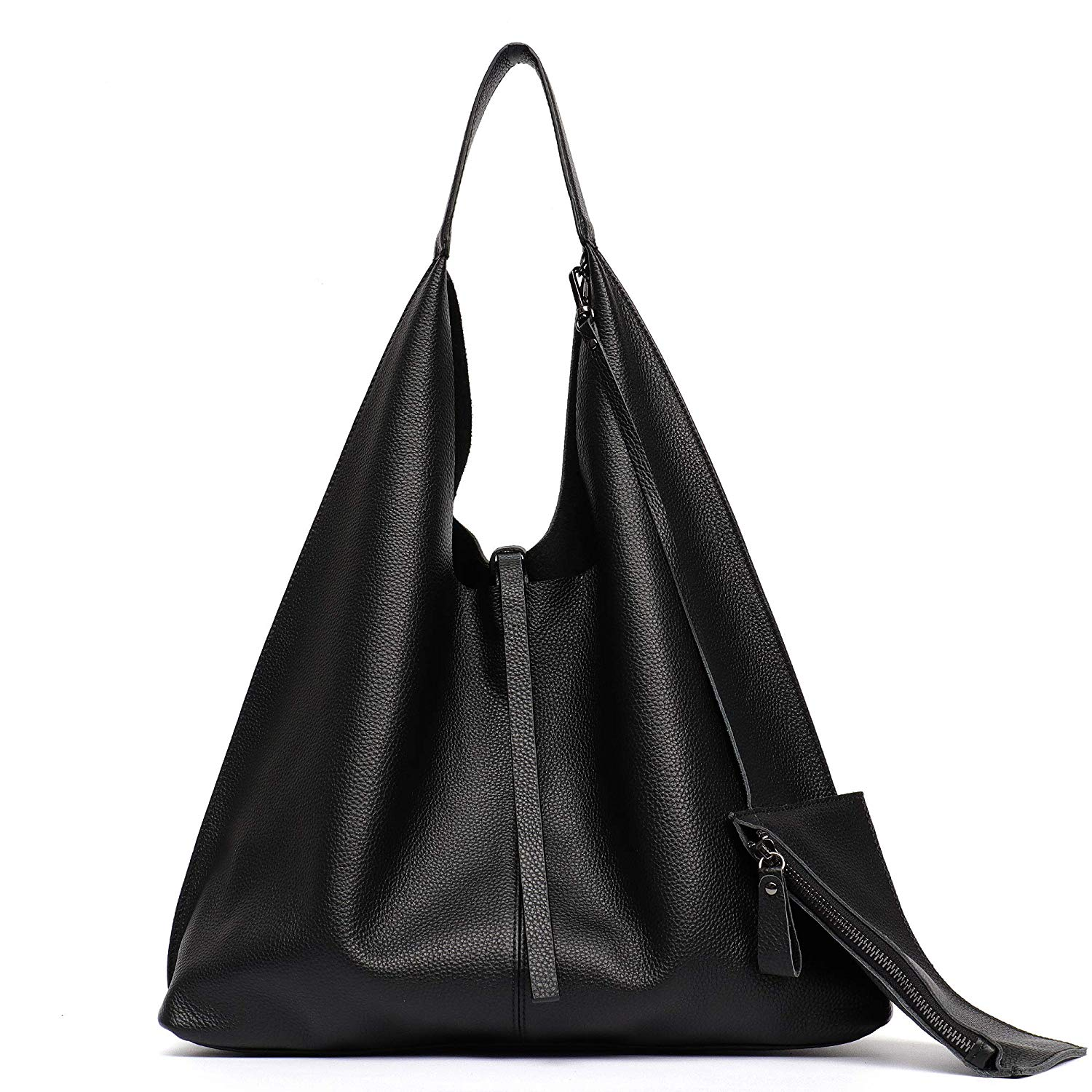 8c4d87be4b2 Get Quotations · STEPHIECATH Women Genuine Leather Shoulder Bag Slouchy Hobo  Casual Soft Tote Ladies Vintage Bag