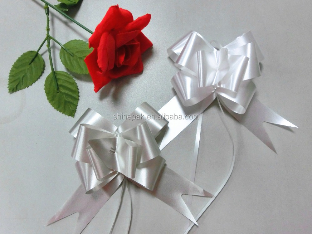 manufacture silver butterfly pull ribbon bow