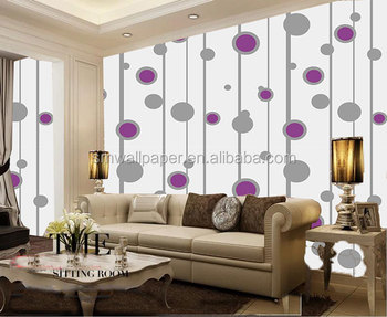Moderne italiaanse polka dot bloem d pvc behang vinyl behang voor