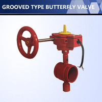 UL FM Approved Wafer Type Butterfly Valve For Fire Fighting