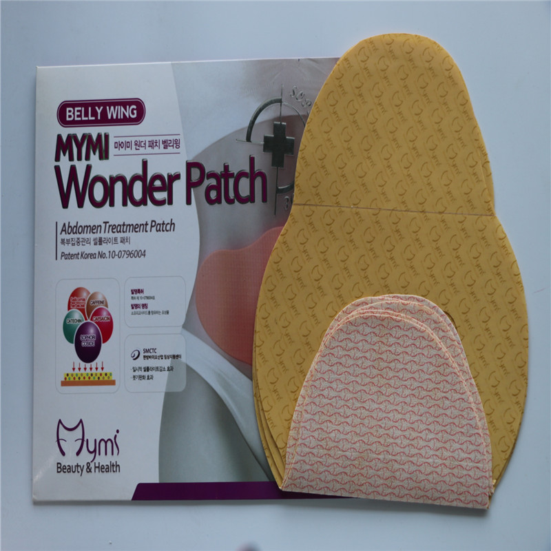 1box=5pcs As seen on TV private label service weight loss slimming patch,korean mymi wonder patch
