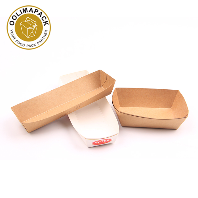 Open ended food tray,paper pub tray