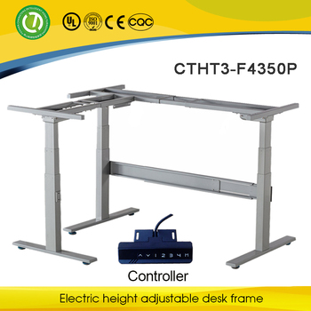 3 Legs 3 Sections Electric Adjustable Bases Sit Stand Desk Leg With Crossbar