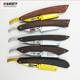 High quality professional folding wood handle barber straight edge shaving razor