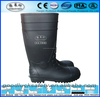 Construction PVC Safety Gumboots S4 S5,Gumboots with steel toe cap,Black Safety Gumboots