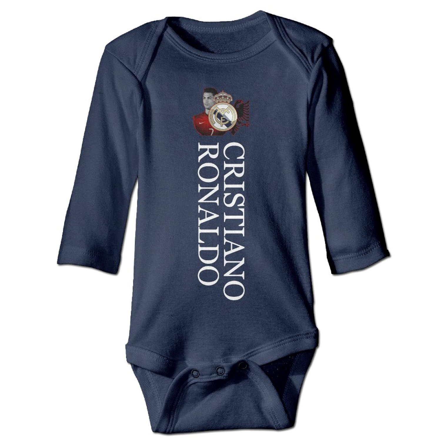 d51bc4857 Get Quotations · PGiG Baby s Real Madrid CF Cristiano Ronaldo Hanging  Bodysuit Romper Playsuit Outfits Clothes Climbing Clothes Long