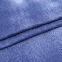 Free sample denim like border print examples of 94 rayon 6 spandex fabric for shirt