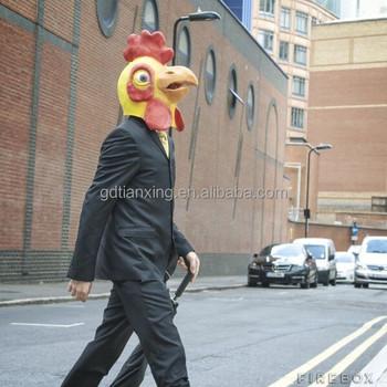 Party Animal Fancy Dress Rubber Full Head Chicken Head Mask - Buy ...
