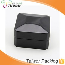 Custom New Product Black Glossy Hinged Plastic Box For Jewelry Industry