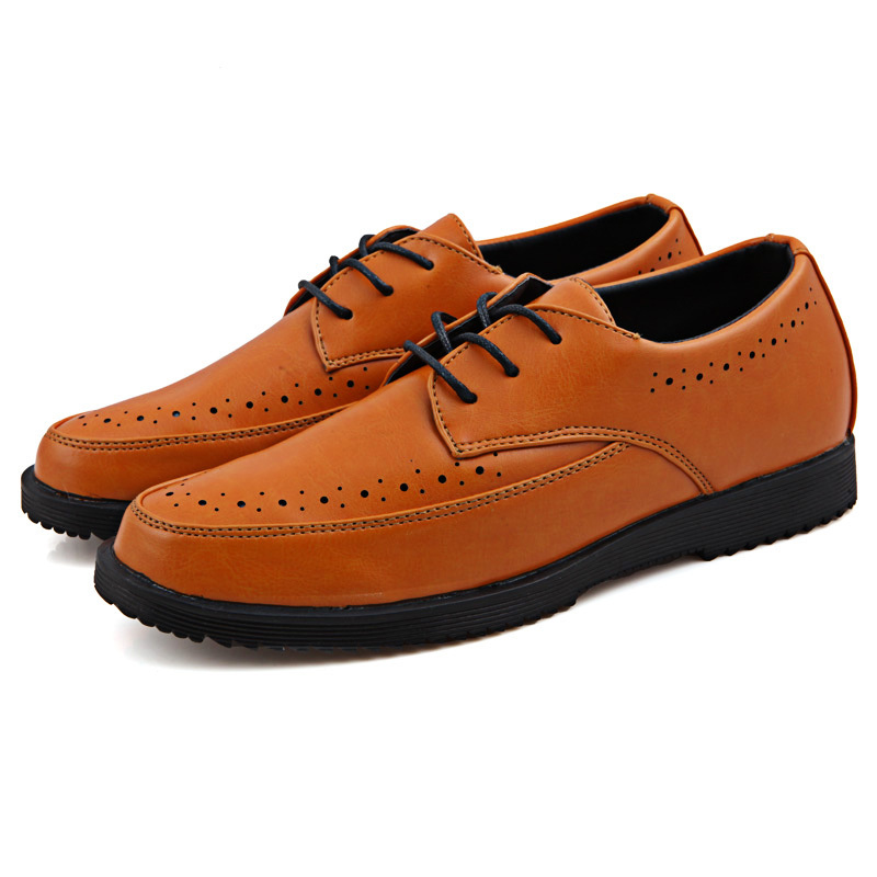 2015 New Fashion Men Leather Shoes Microfiber Hollow out  Leather Breathable Casual  Leather Shoes Men Loafers  Flats 38-43 009