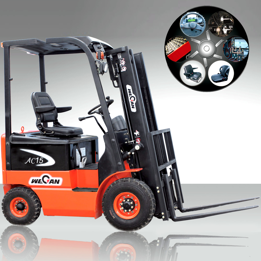 All-New 1.5 ton - 3 ton Electric ForkLift Sit-Down Rider for Sale