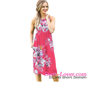 Wholesale Fall in Love with Floral Print Boho Dress in Rosy