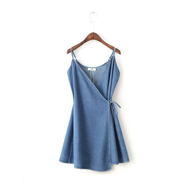 Summer Fashion Dress V Neck Demin Dresses For Women