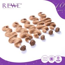 Tangle Free Body Wave Humain Blond Hair Color Grey Dye Weft Bulk