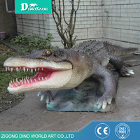 Movable Animatronic Remote Control Animated Crocodile