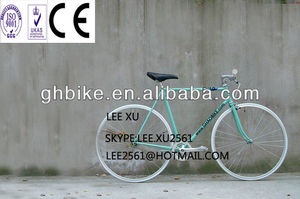 700C simple classic fixed gear bicycle fixie bicycle