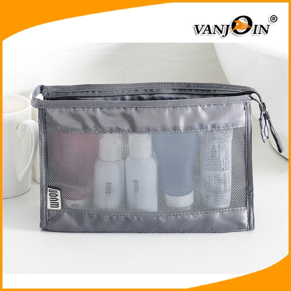 Handy Travel Bottle Set Holiday Clear Plastic Jars Bag Flight Cosmetic Case