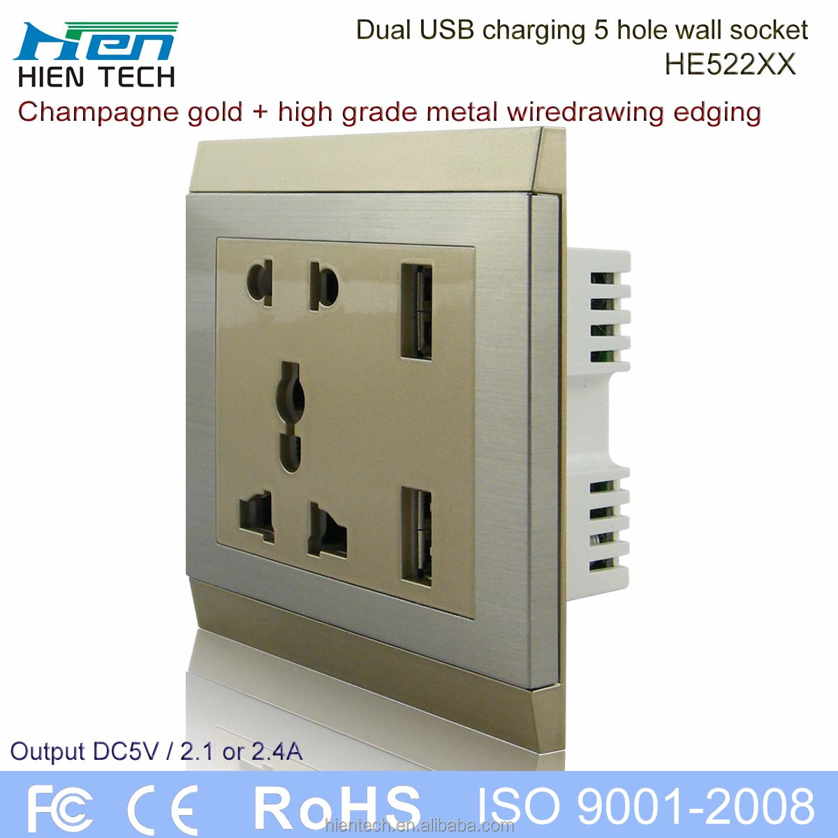 Wholesale Retractable Power Sockets With USB Wall Socket Outlet AC95V 264V  Widely Input