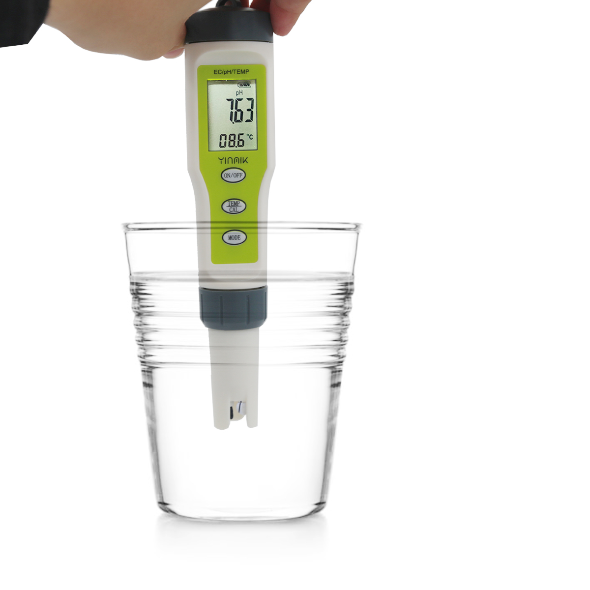 3-in-1 Digital PH Tester Temperature EC PH <strong>Meter</strong> 0.01 High Accuracy 0-14pH Range Water Quality Auto Calibration For Aquariums