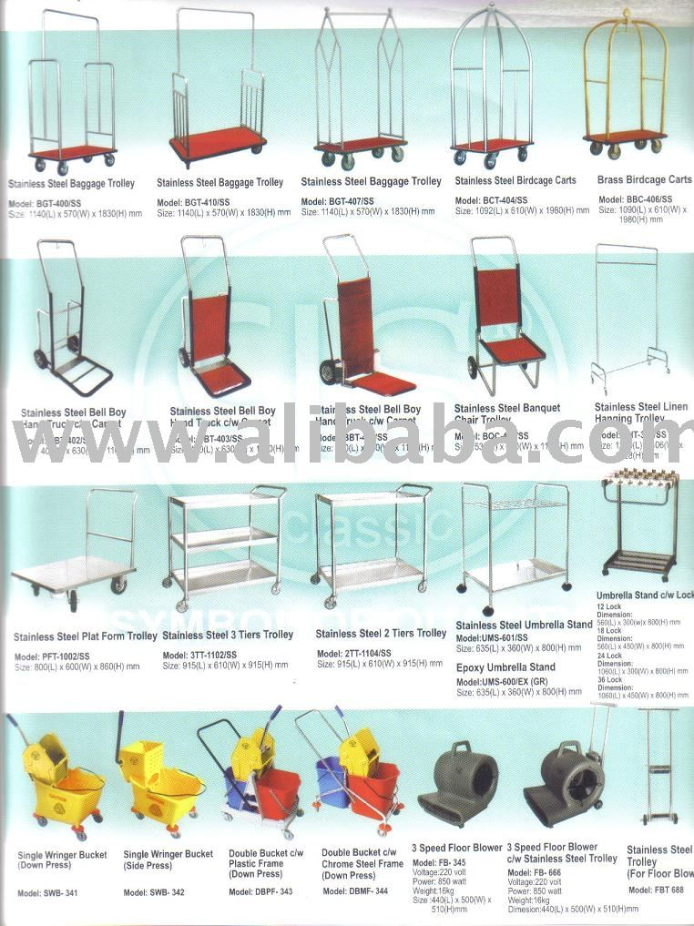 En acier inoxydable chariot m nage autres fournitures for Fourniture hotellerie restauration