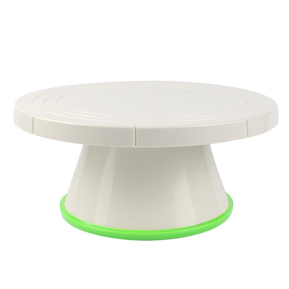 cake making sugar craft platform stand tool green plastic revolving cake turntable for baking