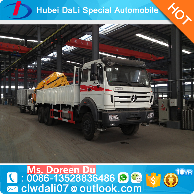 Novel Item competitive pice BEIBEN 16 Ton crane truck with brick grab crane for sale
